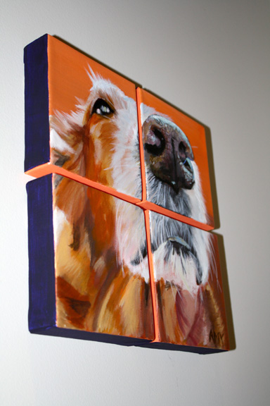 Golden Retriever Pet Portrait ~ ElephantEats.com