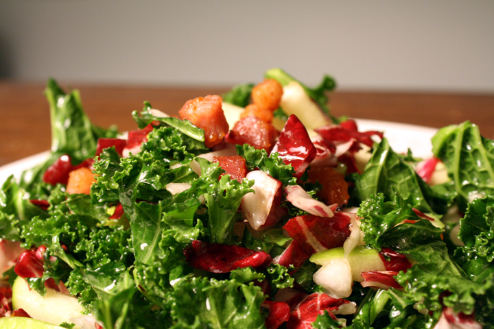 Greenslove: Kale, Apple and Pancetta Salad