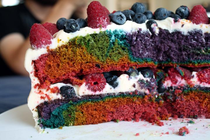 rainbow velvet cake