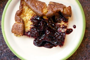 Corn Pancake with Blackberry Sauce4