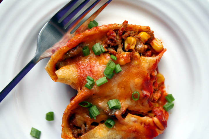 Mexican Stuffed Shells4 | ElephantEats.com