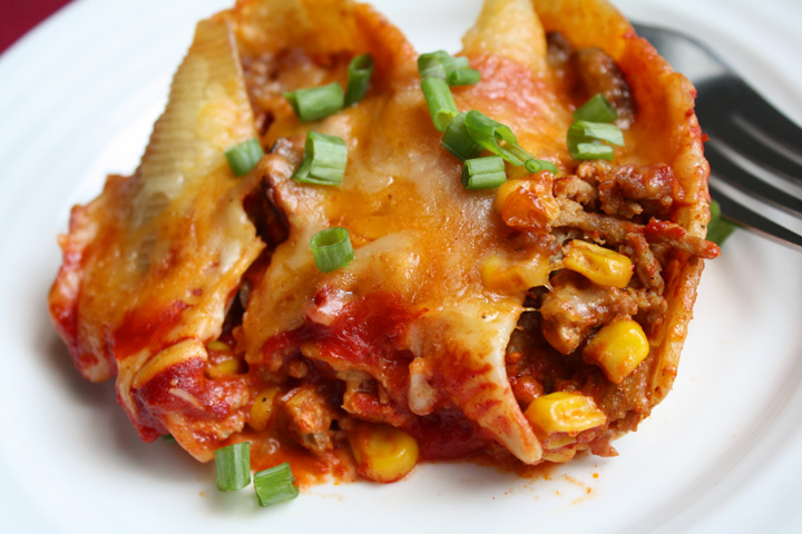 Mexican Stuffed Shells6 | ElephantEats.com