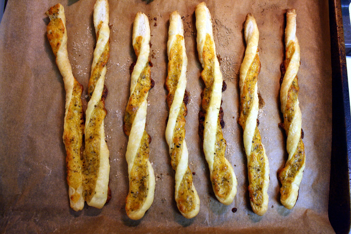 Cheddar Herb Twists