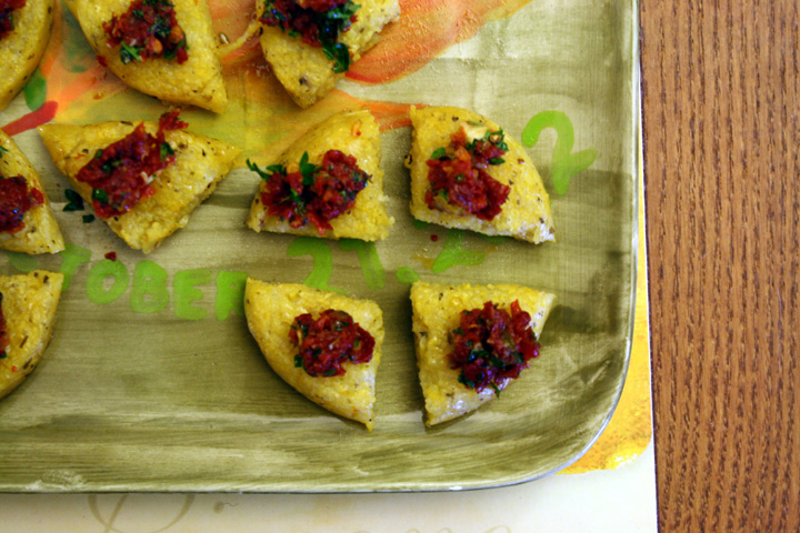 Polenta with Tomato Tapenade