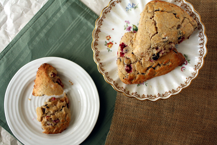 Spiced Cranberry Ricotta Scones