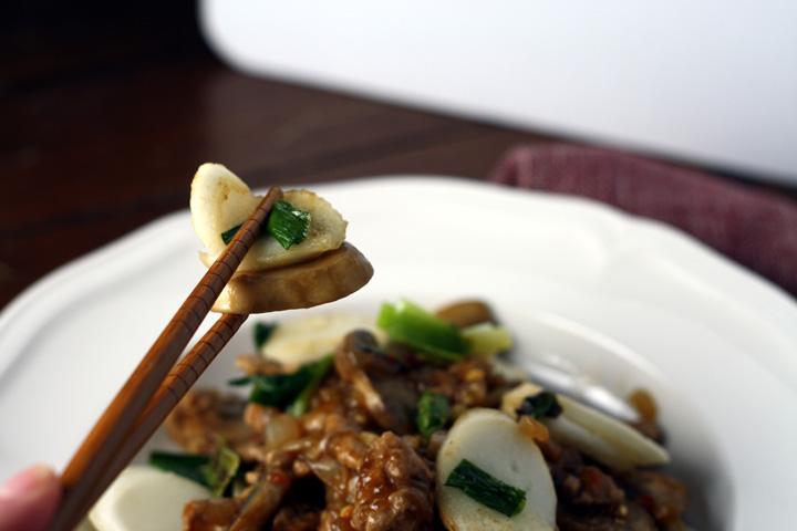 tteok rice cakes