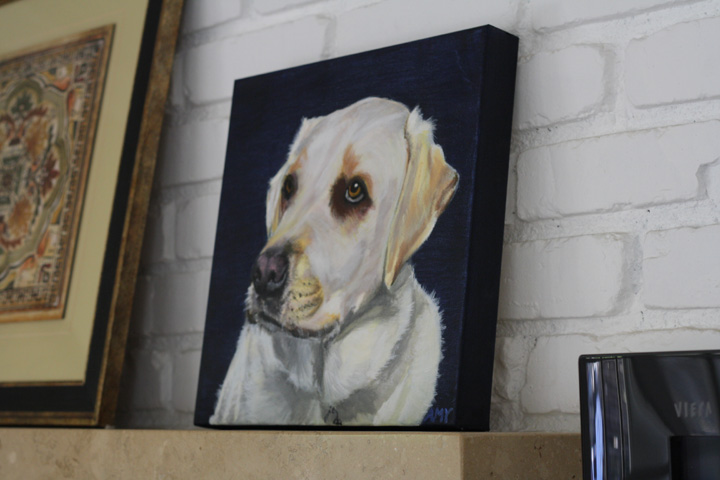 Custom Pet Portrait Yellow Lab