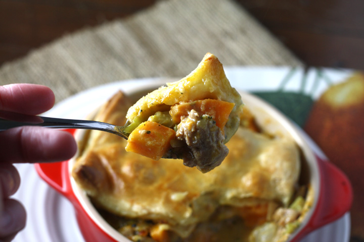 Smoked Cheddar Sweet Potato Pot Pie