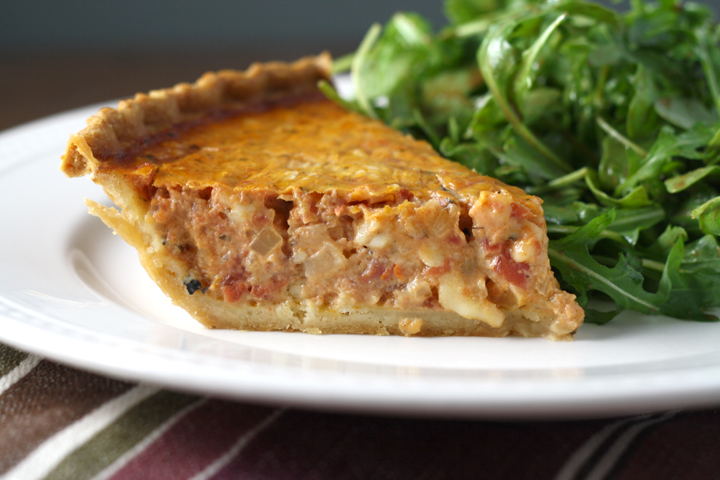 Tomato Quiche~ ElephantEats.com