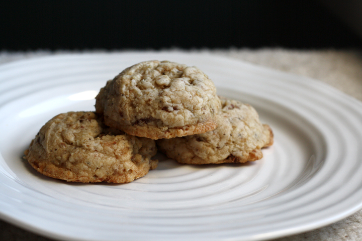 Brown Butter Oatmeal Toffee Cookies ~ ElephantEats.com