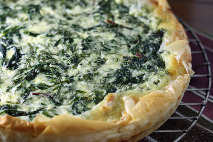 Goat Cheese, Chard and Herb Pie ~ ElephantEats.com