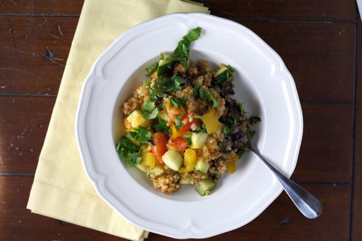 Southwestern Quinoa Veggie Bake ~ ElephantEats.com