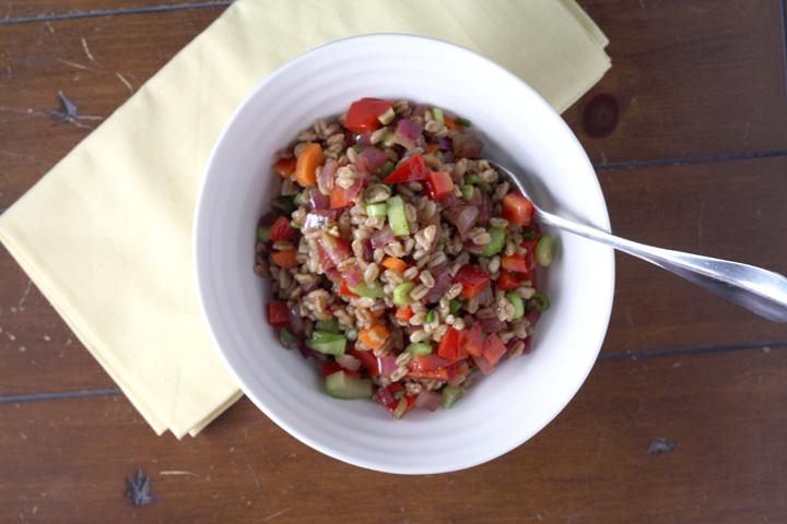 Farro Salad ~ ElephantEats.com