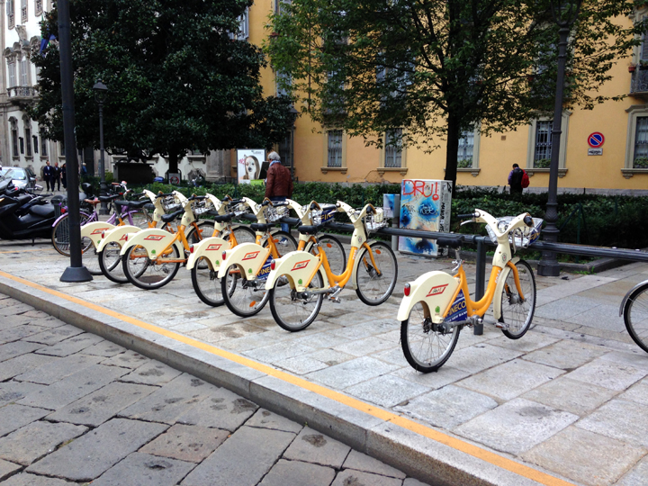 City Bikes, Milan ~ Elephant Eats.com