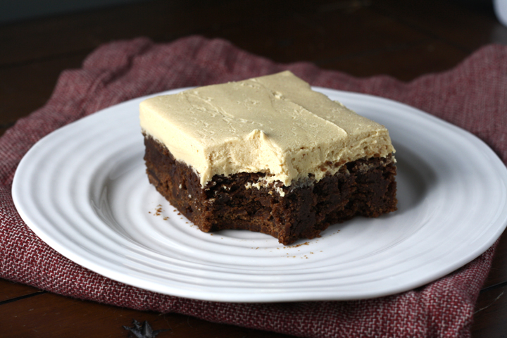 Peanut Butter Frosted Brownie ~ ElephantEats.com