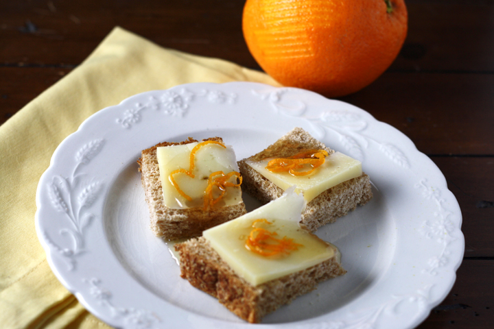 Bread with Pecorino, Honey and Orange Zest ~ ElephantEats.com