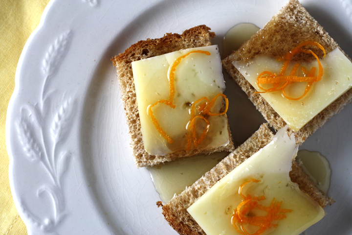 Bread with Pecorino, Honey and Orange Zest 2 ~ ElephantEats.com
