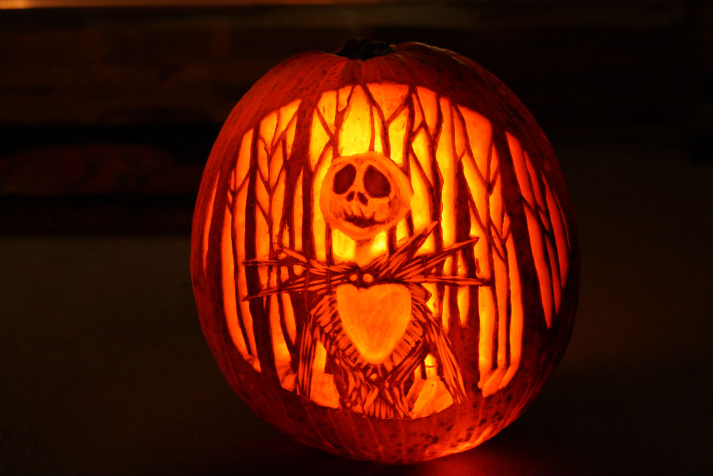 Nightmare Before Christmas Jack Skellington jack-o-lantern ~ ElephantEats.com
