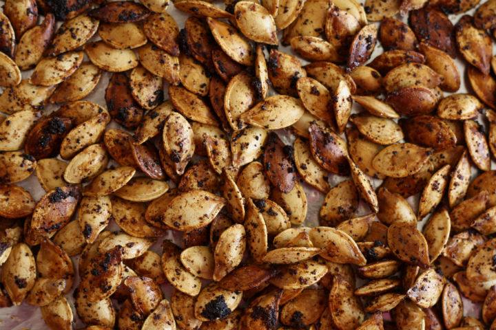 Zesty Roasted Pumpkin Seeds ~ ElephantEats.com