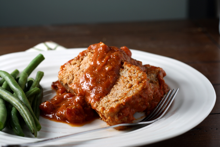 Mom's Barbecued Meatloaf ~ ElephantEats.com