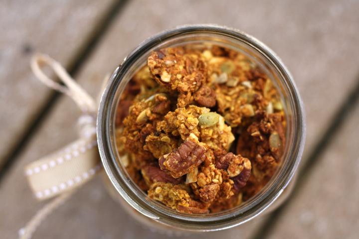 Chunky Pumpkin Spice Granola ~ ElephantEats.com