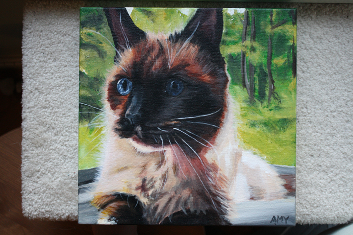 "Custom Cat Portrait ""Beata"" ~ by ElephantEats.com"